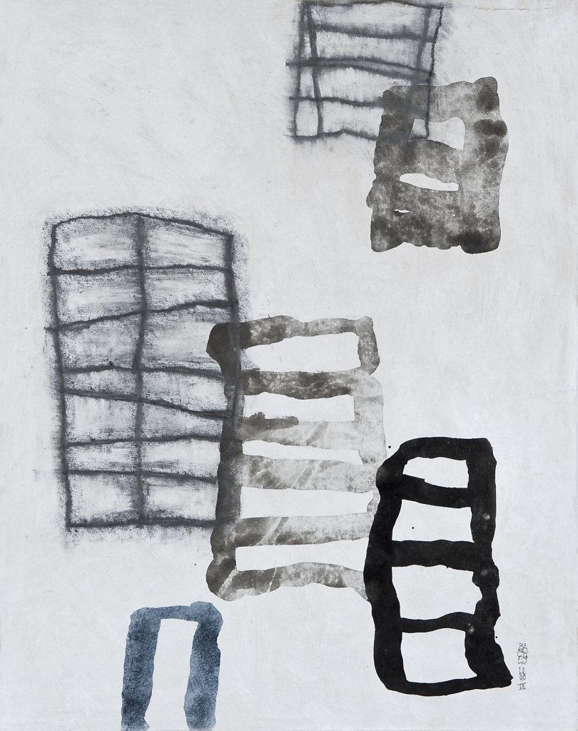 Technique mixte/papier daté 2008 51x40 cm