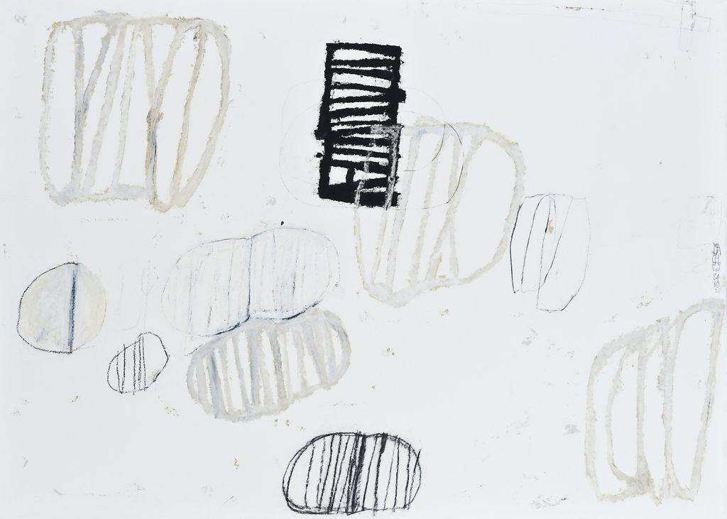 Technique mixte/papier daté 2009 75,5x106cm
