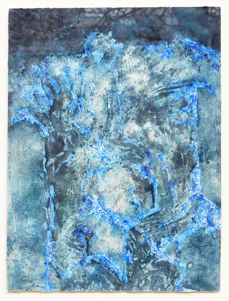 Technique mixte sur papier 1977 75x56.5cm signé