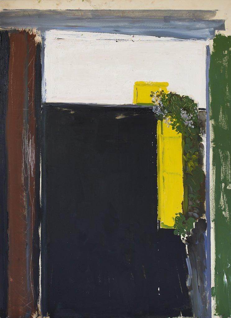 L. Klapisch - La cour - 2016 - Huile/panneau - 122x90cm