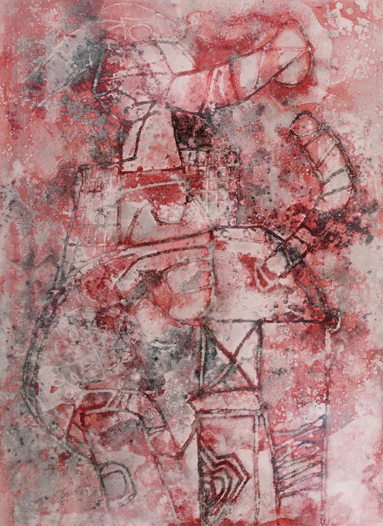 Technique mixte sur papier 57,5x43cm 1984