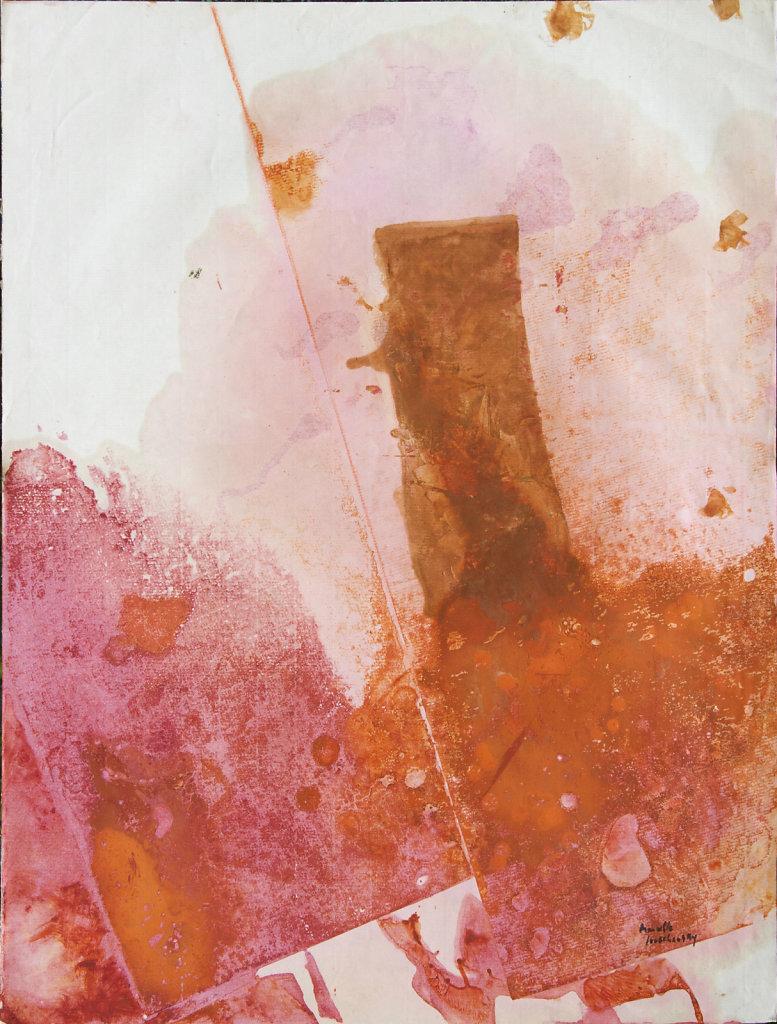 Huile sur papier 65x50 cm circa 1960/65