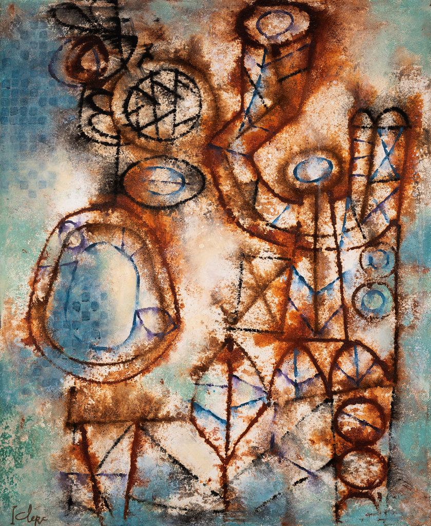 """""""Terre Juvénile"""" Huile sur toile 108x89cm 1965"""