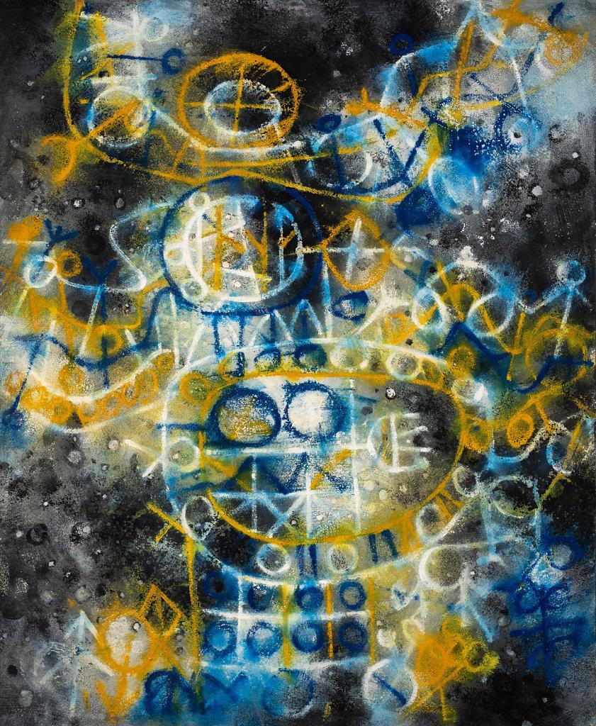 """""""Vue des ocelles"""" Huile sur toile 108x89cm 1967"""