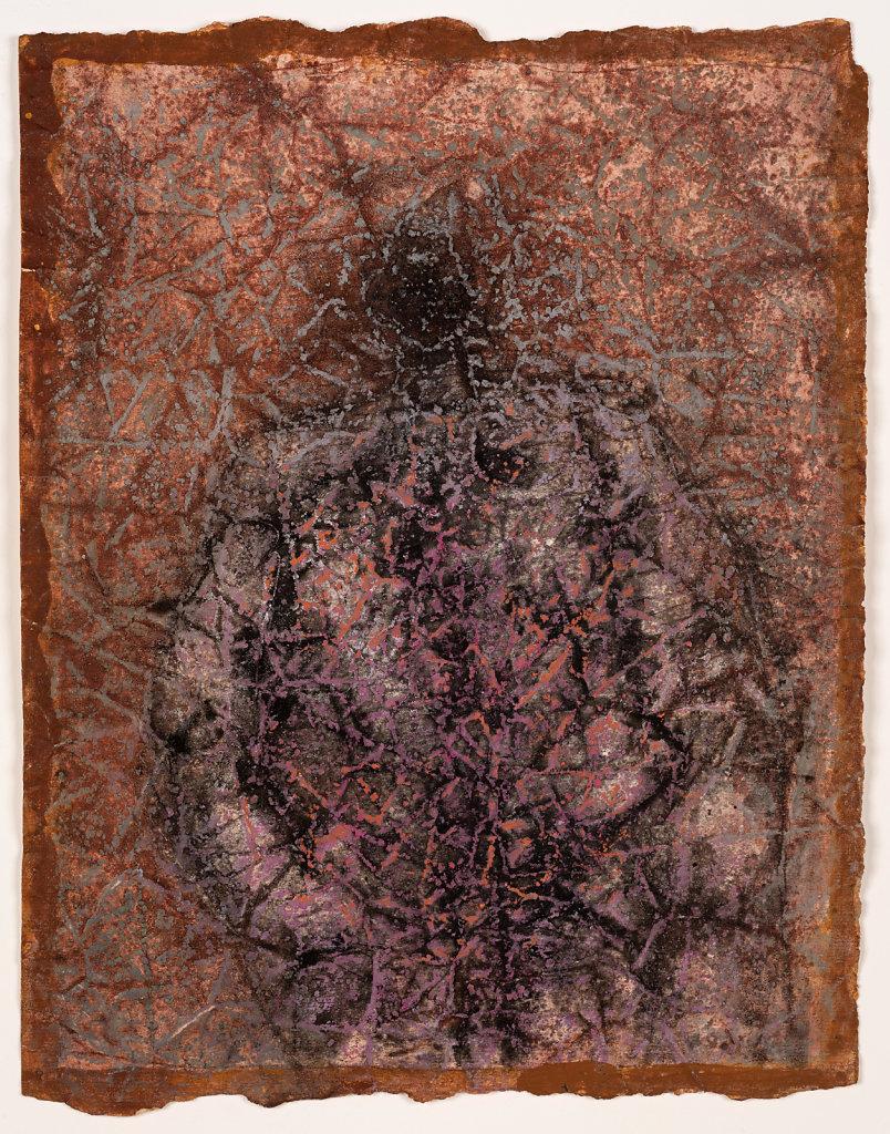 Technique mixte sur papier froissé 31x24cm circa 1981