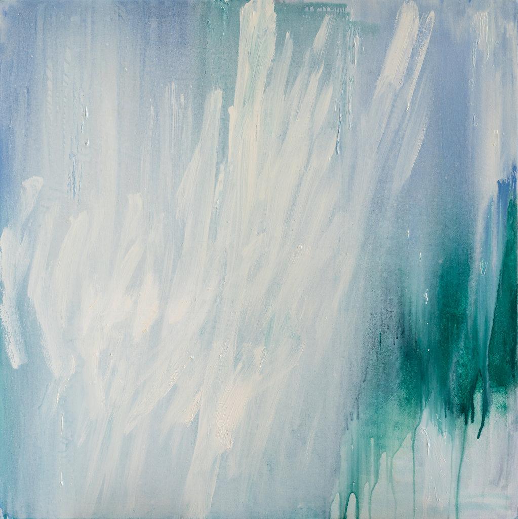 """""""LAvril XV"""" Pigments, huile sur toile 120x120cm 2010"""