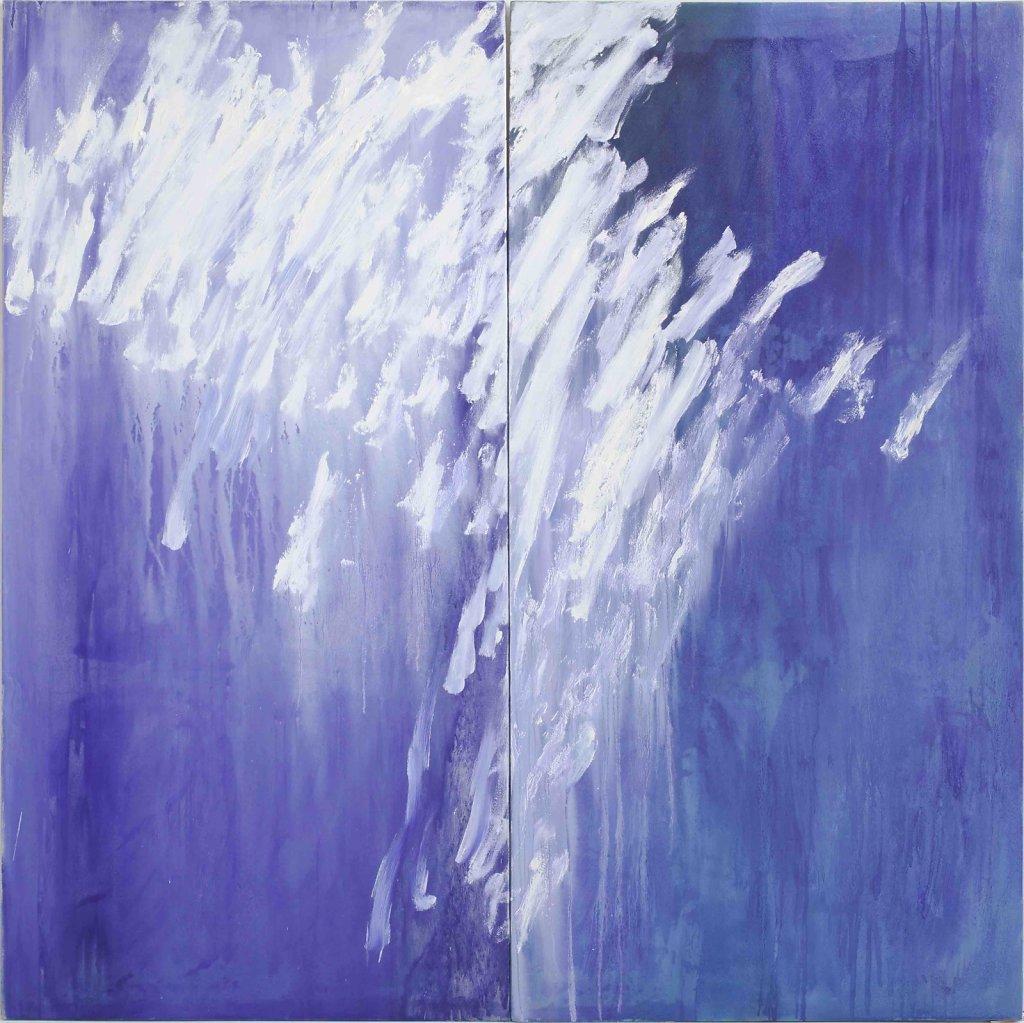 L'Avril diptyque Pigments, huile sur toile 195x195cm 2010