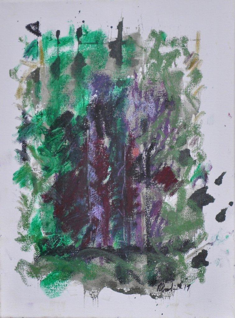 """Série""""Lavandes"""" 2019 Huile/toile 40x30cm"""